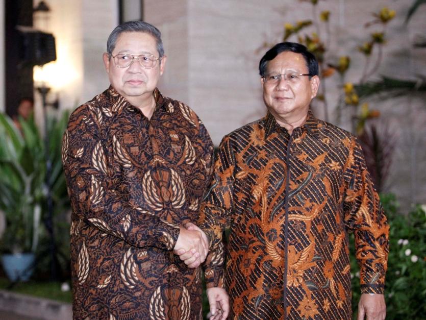 SBY-Prabowo pada pertemuan beberapa waktu lalu/MI.Rommy Pujianto