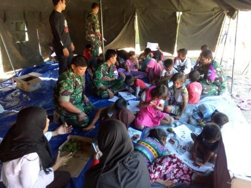 Sekolah Gembira Tim Psikologi TNI.