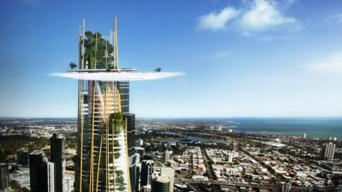 Sebuah 'huma' di puncak sebuah supertall building yang menembus