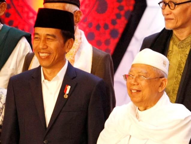 Presiden Jokowi dan Ma'ruf Amin/MI/Panca Syurkani