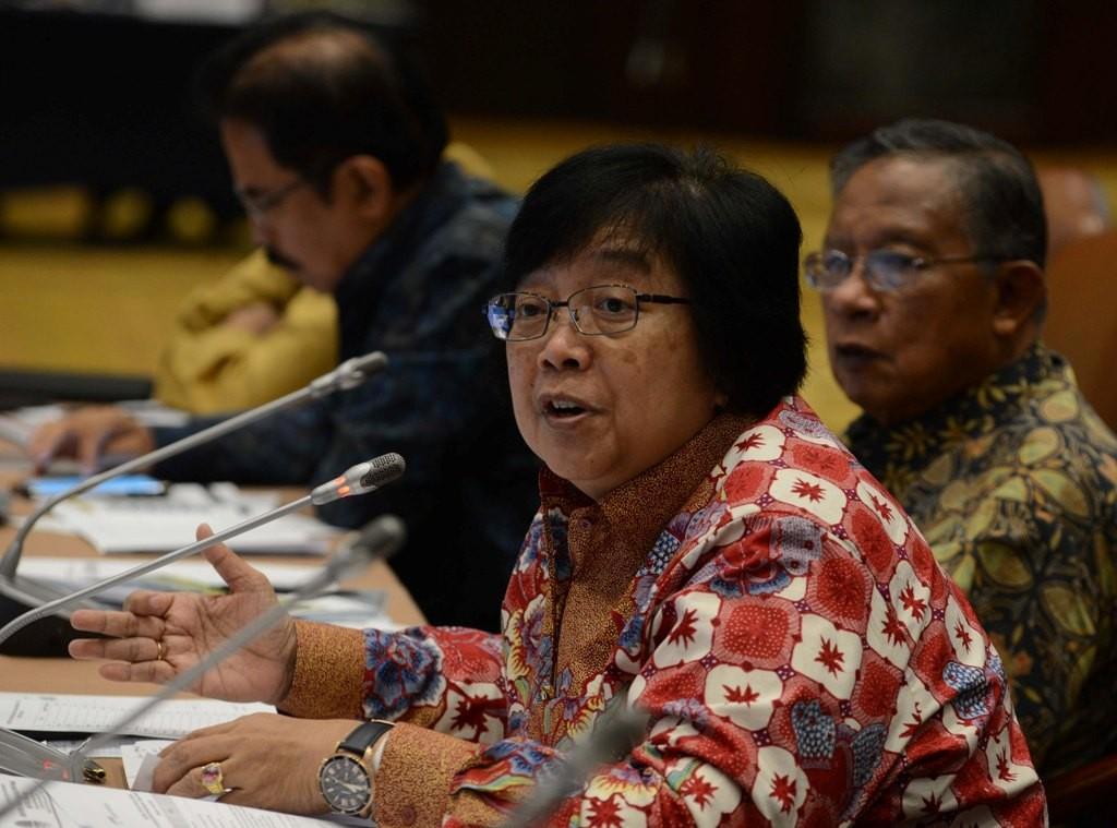 Menteri Lingkungan Hidup dan Kehutanan Siti Nurbaya Bakar. MI/M Irfan.