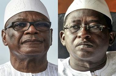 Petahana Ibrahim Boubacar Keita (kiri) dan Soumaila Cisse.