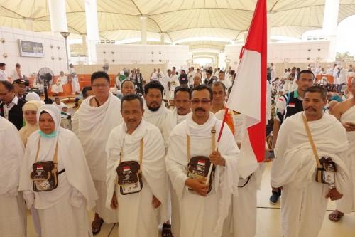 ILUSTRASI:  Jemaah haji Indonesia di Bandara King Abdul AzIz