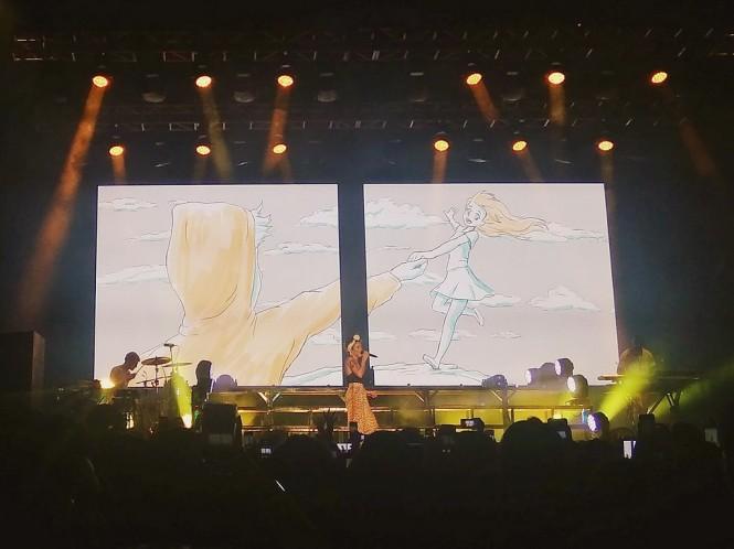 Halsey di On Off Festival, Gandaria City Jakarta, Sabtu, 11 Agustus 2018. (Foto: Medcom.id/Cecylia Rura)