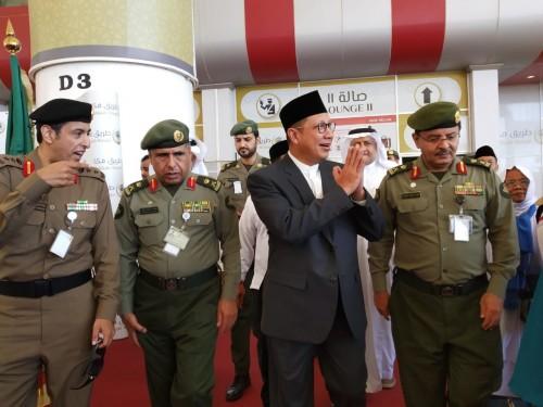 Menteri Agama (Menag) RI Lukman Hakim Saifuddin di bandara King