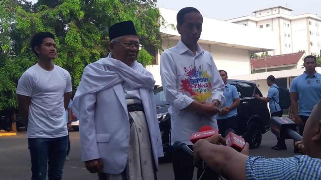 Pasangan Joko Widodo-Ma'ruf Amin menjalani menjalani tes kesehatan untuk mengikuti Pilpres 2019. Foto: Medcom.id/Ilham Wibowo.