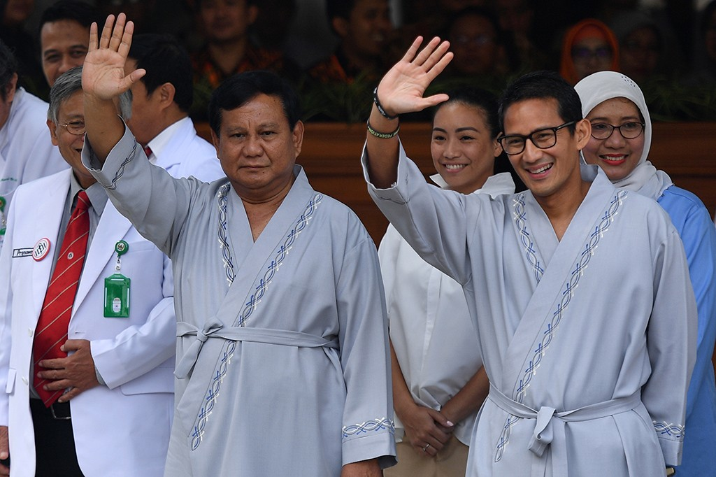 Prabowo-Sandiaga Jalani Tes Kesehatan di RSPAD
