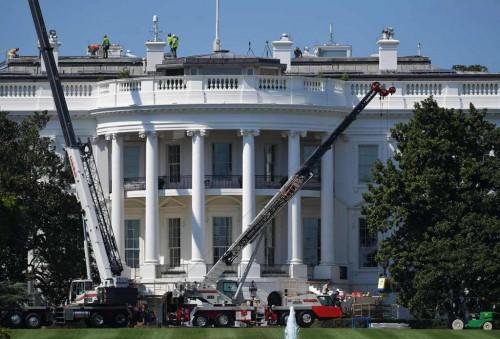 Gedung Putih yang direnovasi pada 2017 lalu. (Foto: AFP)