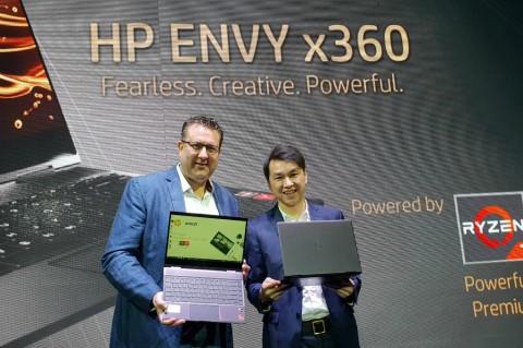HP Envy x360 Usung AMD Ryzen, Targetkan Kreator Konten