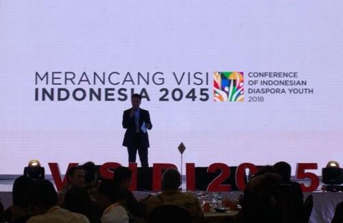 Dino Patti Djalal dalam pembukaan Conference of Indonesian