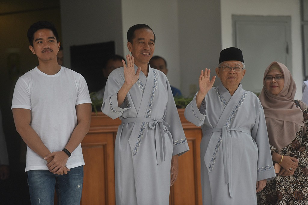 Jokowi-Ma'ruf menjalani pemeriksaan kesehatan, senin 13 Agustus 2018  di Rumah Sakit Pusat Angkatan Darat (RSPAD) Gatot Soebroto. (Foto: Antara Foto/Akbar Nugroho Gumay