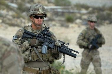 Prajurit AS di Afghanistan. (Foto: AFP)