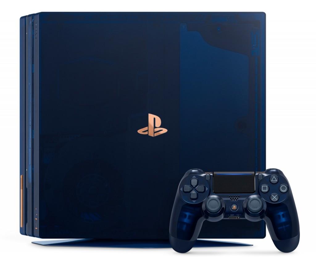 Tampilan PlayStation 4 Pro 500 Million Limited Edition.
