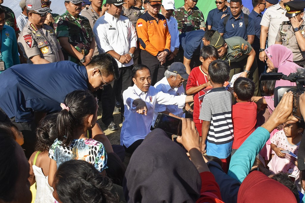Gempa Lombok, Jokowi Janjikan Rp50 Juta untuk Rumah Rusak Berat
