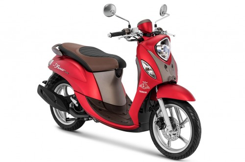 Yamaha Fino Grande warna luxury red. Yamaha
