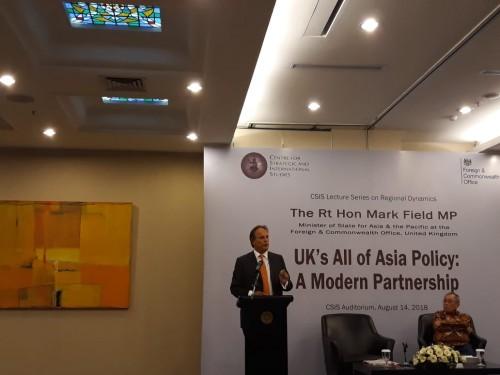 Menteri Muda Urusan Asia Pasifik Kemenlu Inggris Mark Field.