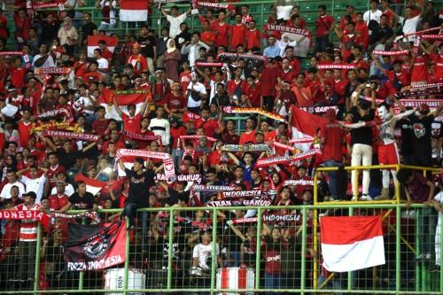 Dukungan suporter Indonesia saat timnas U-23 membantai Taiwan.