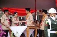 Menko PMK Dampingi Jokowi Hadiri Upacara Hari Pramuka