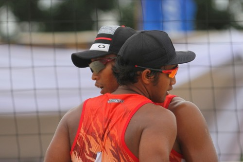 Pasangan pebola voli pantai putra Indonesia Ade ''Chandra''