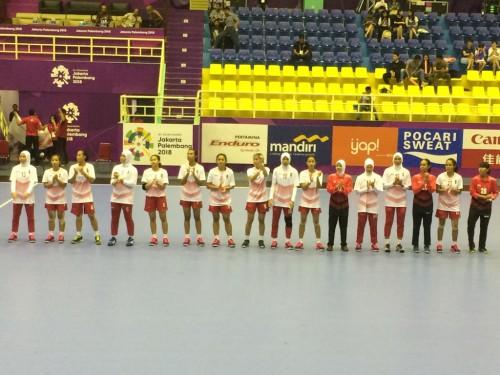 Timnas Handball Putri Indonesia jelang laga melawan Malaysia di