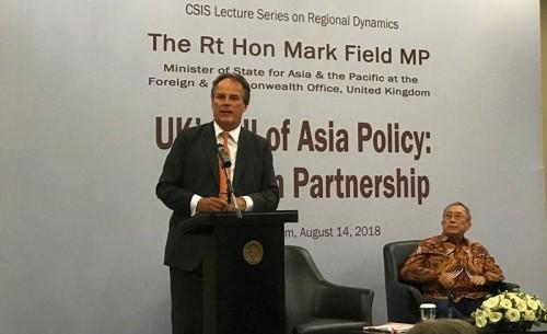 Menteri Muda Urusan Asia Pasifik Kemenlu Inggris Mark Field, di