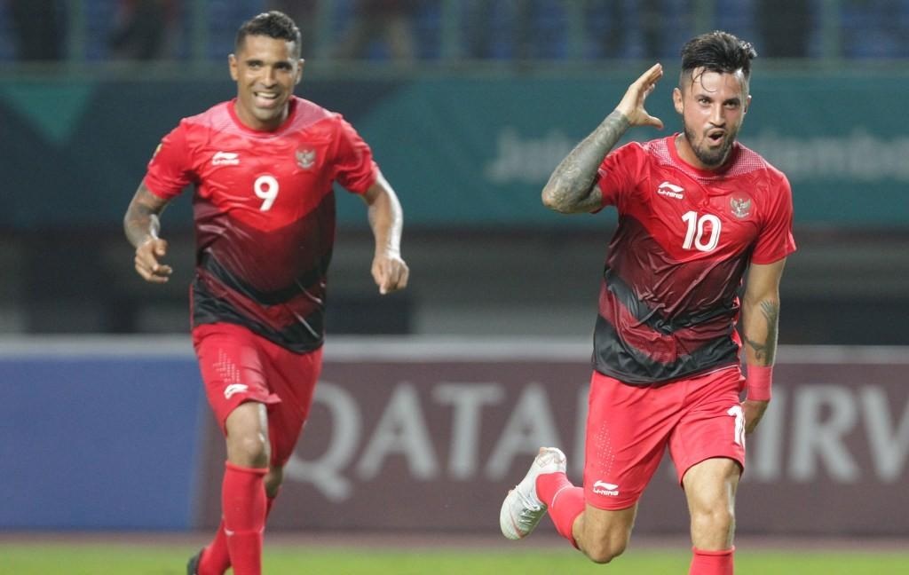 Stefano Lilipaly (kanan) akan diturunkan pelatih Indonesia U-23 Luis Milla saat menghadapi Palestina U-23 (Foto: INASGOC/Jessica Margaretha)