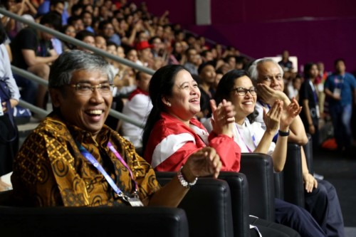 Menko PMK Puan Maharani, Menteri Keuangan Sri Mulyani Indrawati,