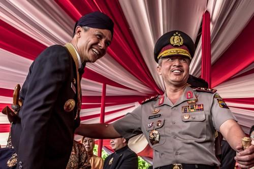 Ganjar Pranowo Pimpin Upacara HUT ke-68 Jawa Tengah