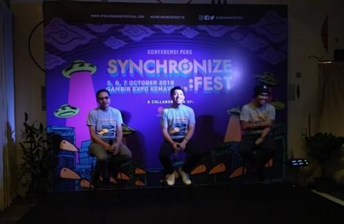 Jumpa pers Synchronize Festival 2018 (Foto: Medcom/Cecylia)