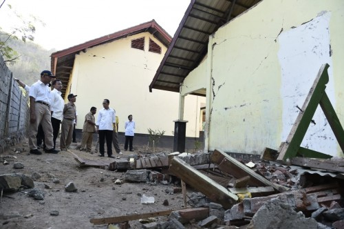Kondisi sekolah rusak pascagempa Lombok, dokumentasi Kemendikbud.