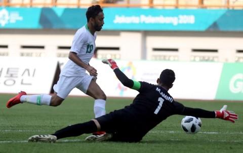 Suasana laga antara Arab Saudi kontra Iran pada Asian Games 2018