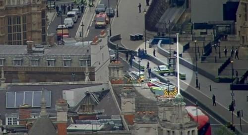Insiden tabrakan disengaja yang terjadi di Westminster, London,