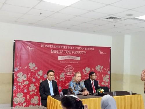 Pelantikan Profesor Harjanto Prabowo menjadi Rektor Binus