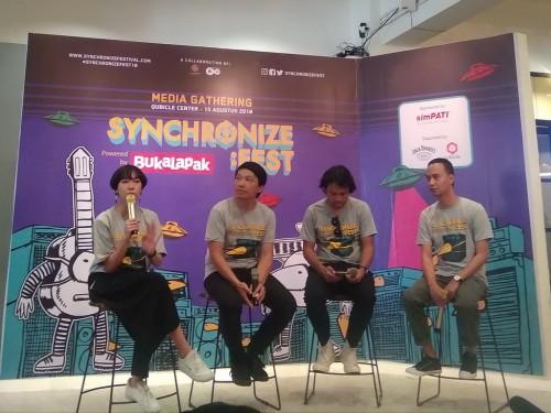 Temu media Synchronize Festival di Qubicle Center, Jakarta,