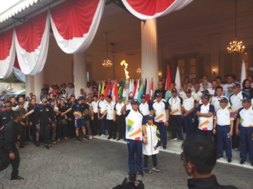 Api Asian Games 2018 Menginap di Balai Kota