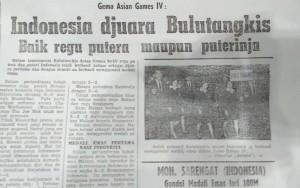 Kilas Balik Asian Games 1962: Jakarta, Indonesia