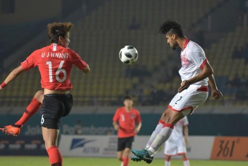 Suasana Timnas Korea Selatan vs Bahrain. (Foto: AFP/Timur