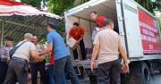 Seribu Paket Bantuan Didistribusikan untuk Pengungsi Gempa Lombok