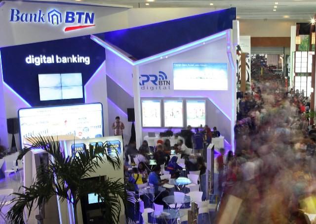 Untuk mencapai target besarnya, Bank BTN rutin menggelar pameran property di berbagai kota. MI/Panca Syurkani