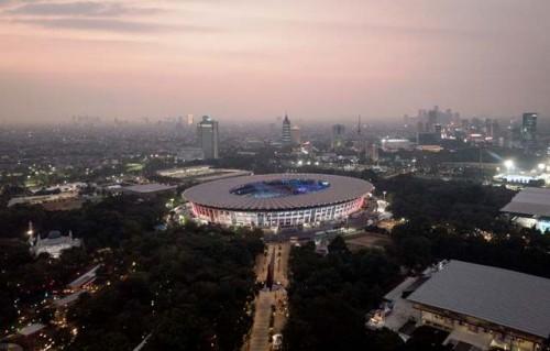 Kompleks olah raga Gelora Bung Karno, Senayan, Jakarta, setelah
