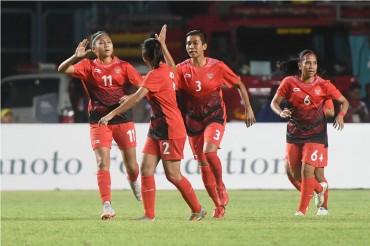 Timnas Putri Indonesia Cetak Setengah Lusin Gol ke Gawang Maladewa