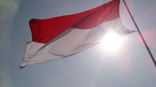 Bendera Republik Indonesia.