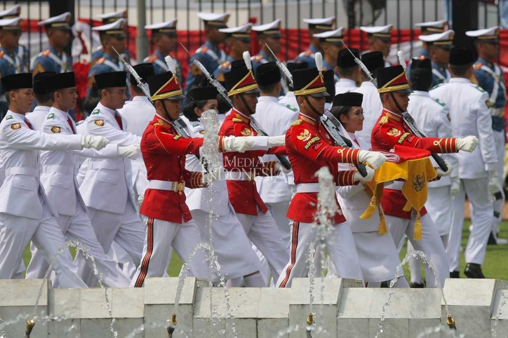 Upacara HUT RI di Istana Merdeka Berlangsung Khidmat