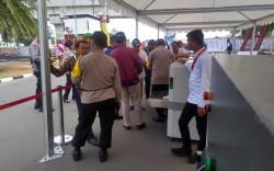 Keamanan Pintu Masuk Komplek Jakabaring Diperketat