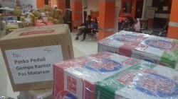 Bantuan untuk Gempa Lombok Memenuhi Kantor Pos Batam