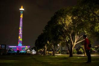 Api Obor Asian Games Diinapkan di Monas