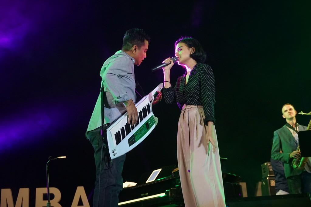 Indra Lesmana dan Eva Celia (Foto: Medcom/Elang)