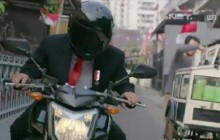 Pembukaan Asian Games Keren, Jokowi Beraksi Pakai Yamaha FZ1
