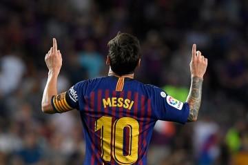 Messi Bawa Barca Raih Kemenangan Perdana di Liga Spanyol