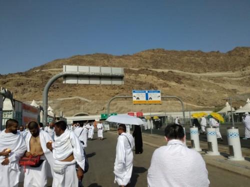 Jemaah haji melakukan tarwiyah menuju Mina/MI/Ade Alawi